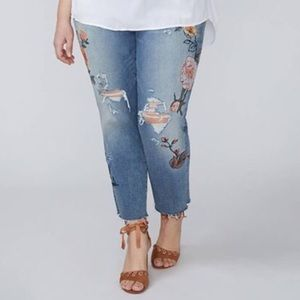 Lane Bryant Embroidered Jeans